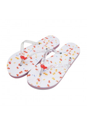 Slippers flip flops sea Emanuela Biffoli white