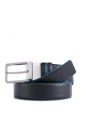 Hommes ceinture Piquadro Blue Square réversible en cuir