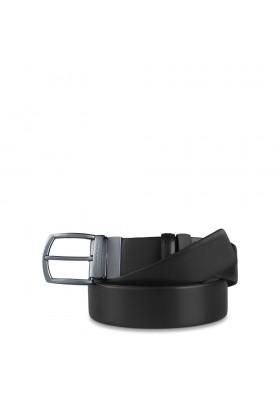Hommes ceinture Piquadro réversible en cuir et en daim