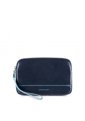 Clutch bag Piquadro Blue Square male with wrist strap