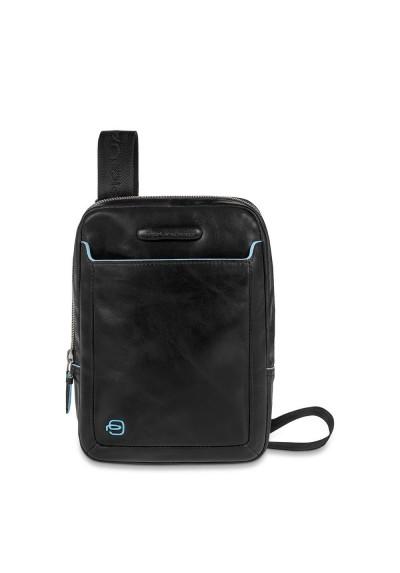 Shoulder pocketbook Piquadro organized Blue Square with iPad mini