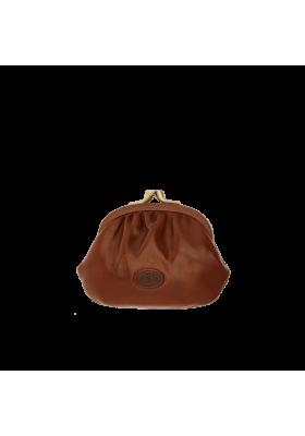 Portefeuille Le Pont de la femme organisée en cuir véritable cuir de couleur