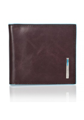 Brieftasche money clips Piquadro Herren-leder-Linie Blue Square